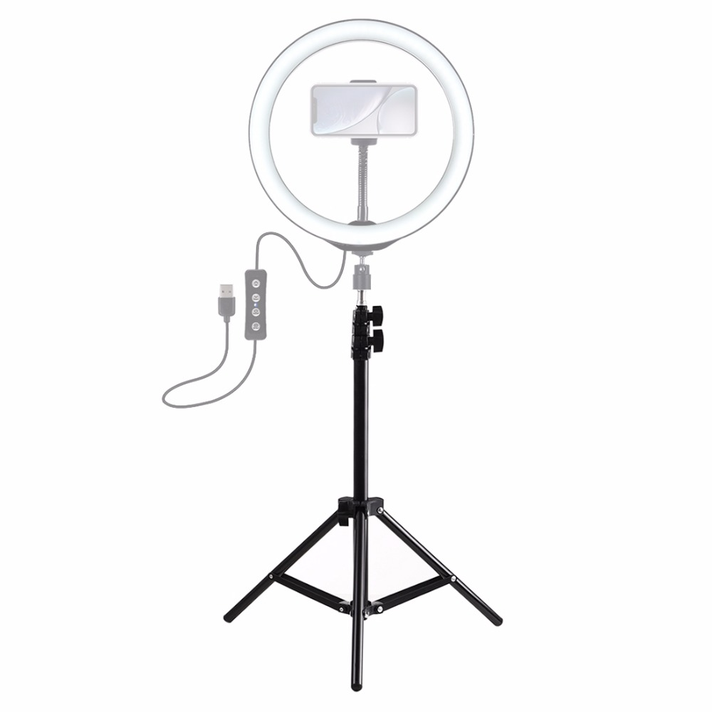 LANBEIKA 1.1M Foldable Tripod Stand Holder For Video Ring Light Flash Backdrop Photography Background Live Streaming
