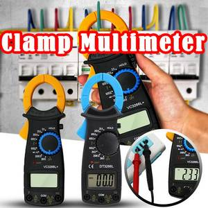 Urijk Digital Clamp Meter AC/DC Current 1mA True RMS Auto Range Live Check NCV Temp Frequency Capacitor LCD Tester Multimete