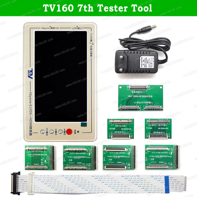 TV160 7th 6th Generation of LVDS Turn VGA Converter With Display LCD/LED TV Motherboard Tester Mainboard Tool
