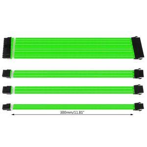 Grundlegende Verlängerung Kabel Kit 30cm/40cm ATX PC GPU CPU 24-PIN 8-PIN 6PIN 4 + 4PIN Netzteil Ärmeln Draht Computer Anschlüsse C26