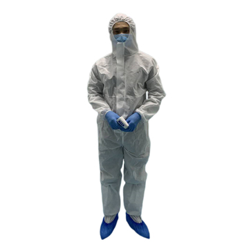 Disposable coverall Safety Clothing Surgical ppe chemical Protective Coverall Medical Uniforms PE Non-woven Material 2 types