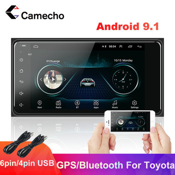 Camecho 2 din Car Radio Android 9.1 Car Multimedia 2din Autoradio GPS Bluetooth MP5 Player Universal For Toyota 2din Car Radio image