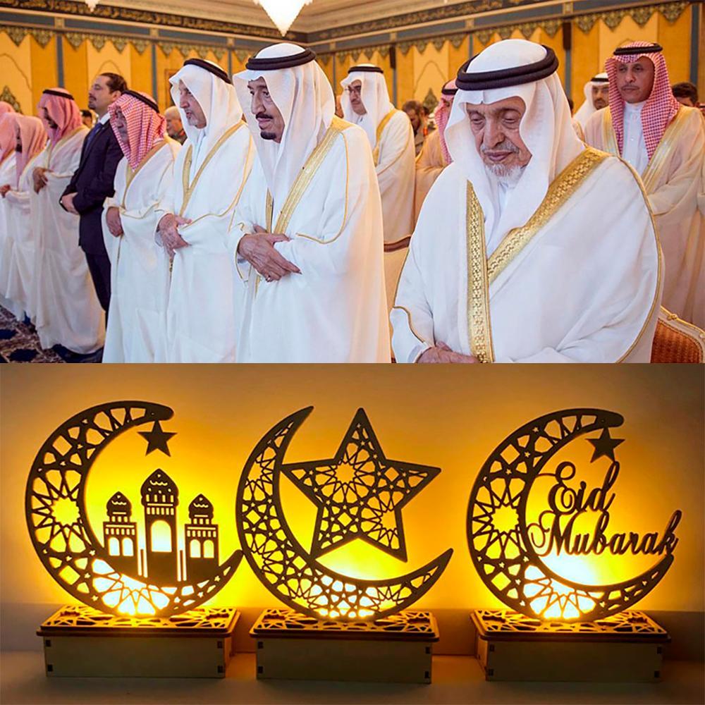 Image 3 - Ajuda ofícios de madeira eid mubarak decoração ramadã e eid  decoração para casa islâmica muçulmano festa suprimentos ramadan kareem  eid al adhaDecorações de festas DIY