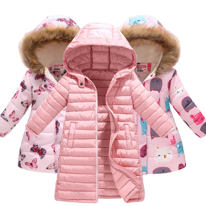 Girls Jacket Clothing Parkas Hooded Down Warm Baby Autumn Kids Children Outerwear  title=