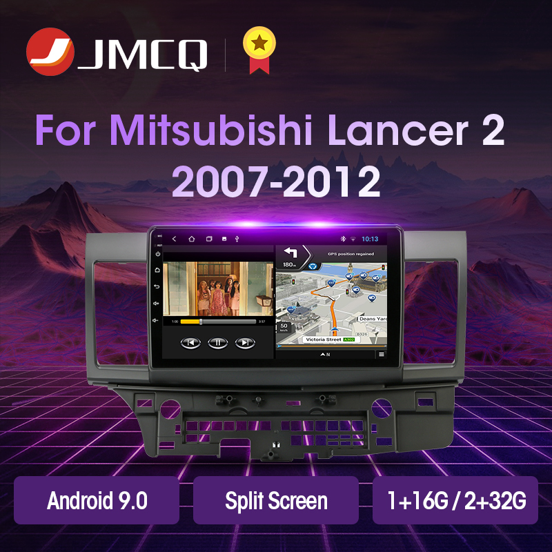 JMCQ Android 9.0 T3L PLUS For For Mitsubishi Lancer 2007-2012 Car Radio Multimidia Video Player Navigation GPS 2+32G 2din 2 Din