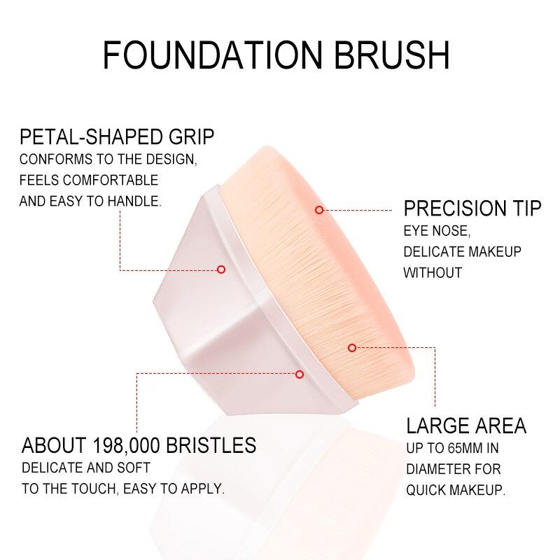 Hot Single Six Corners Powder Makeup Brushes Diamond Cosmetic Hexagon No Trace Foundation Brush Silicone Make Up Brushes 4