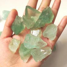 100g natural green fluorite  mineral specimen