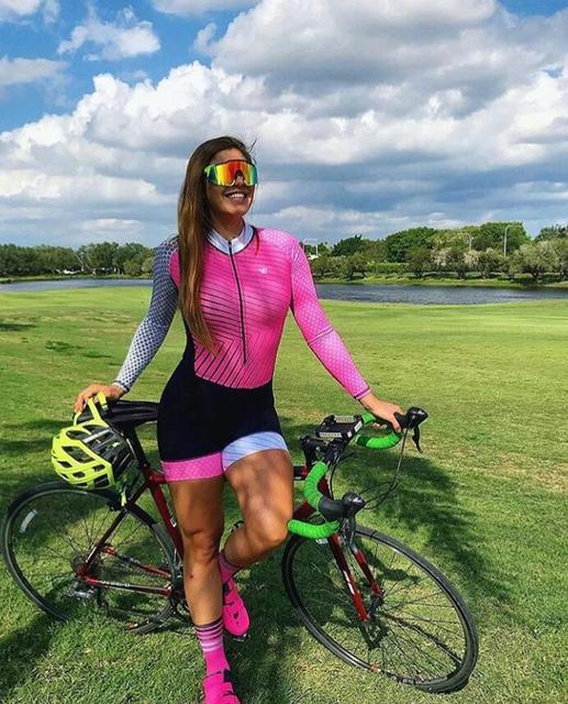 2020 pro equipe triathlon terno manga longa das mulheres camisa de ciclismo skinsuit macacão maillot ciclismo ropa ciclismo conjunto gel 3