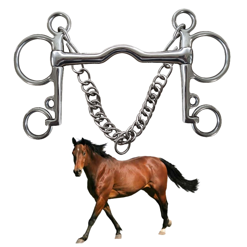 Racing-Rollers Mouth-Ring Snaffle Horse-Training Ring-Bit Gag Tack Equestrian Stainless-Steel