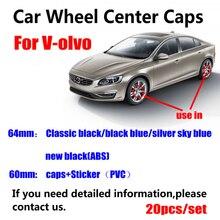 20 pièces 64mm 60mm roue de voiture moyeu de jante capuchon central couvre pour volvo XC90 XC70 XC60 V40 V50 V60 V70 V90 S50 S60 S70 S90 3546923