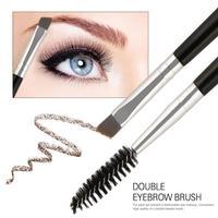 1PC pędzel do brwi podwójny pędzel szczoteczka do rzęs aplikator Spoolers Eye Lashes narzędzia do makijażu pincel maquiagem TSLM2