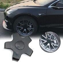 Авто Центральная втулка колеса автомобиля крышка автомобиля Стайлинг для Tesla модель 3 пластиковая крышка ступицы колеса ржавчина Крышка Ступицы автомобильные аксессуары