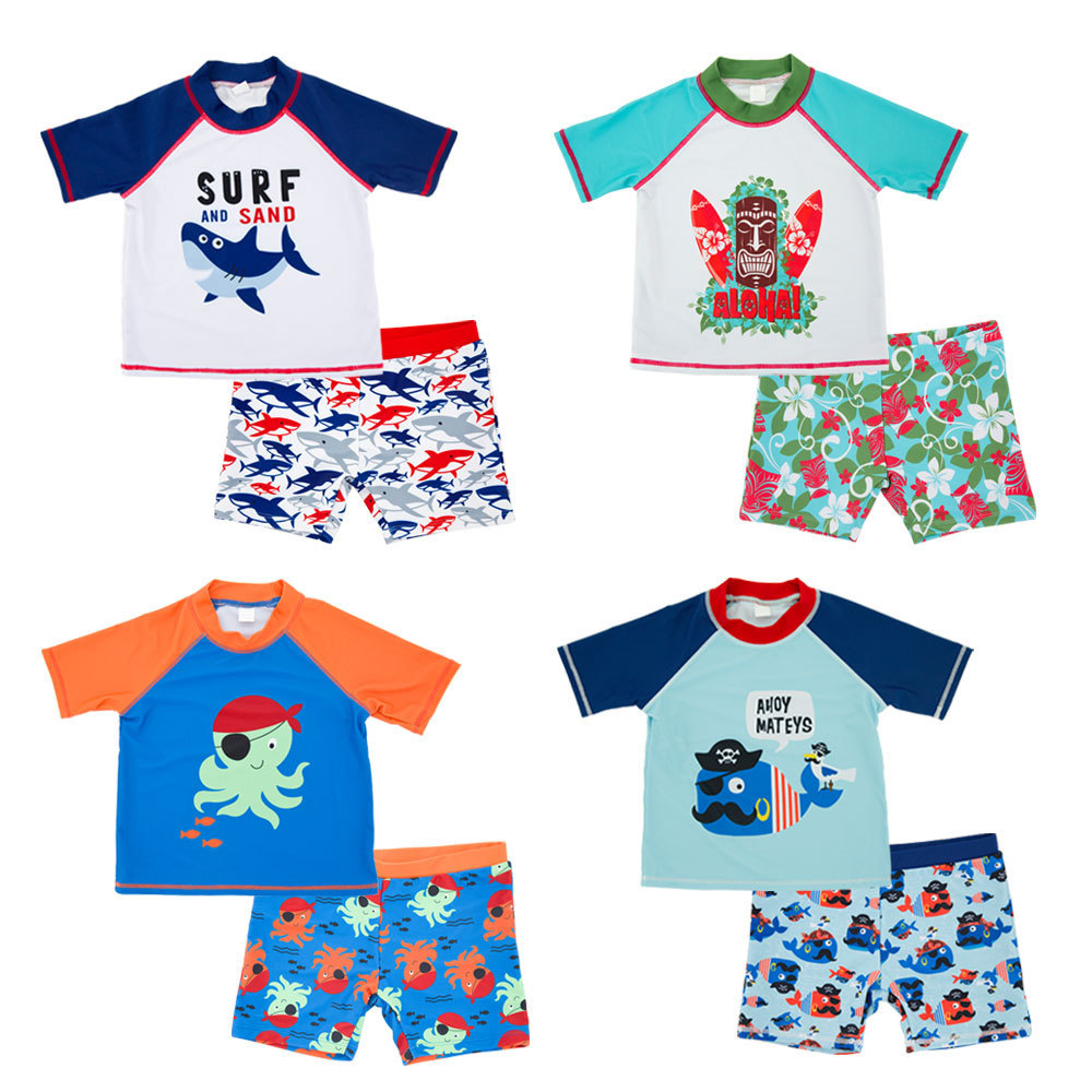 BOY'S Swimsuit Quick-Dry Big Boy Small CHILDREN'S Split Type Short Swimming Trunks Boy Cute Cartoon Hot Springs CHILDREN'S Swims
