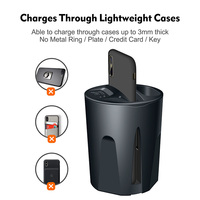 4 in 1 Car Charger Cup Shape for Smartphone Wireless Charging Phone Earphone NC99