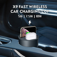 X9 Car Cup 3 In 1 Wireless Charger Compatible for Qi Phones Convenient Charging Long Lasting Cup Charger Fast Heat Dissipation