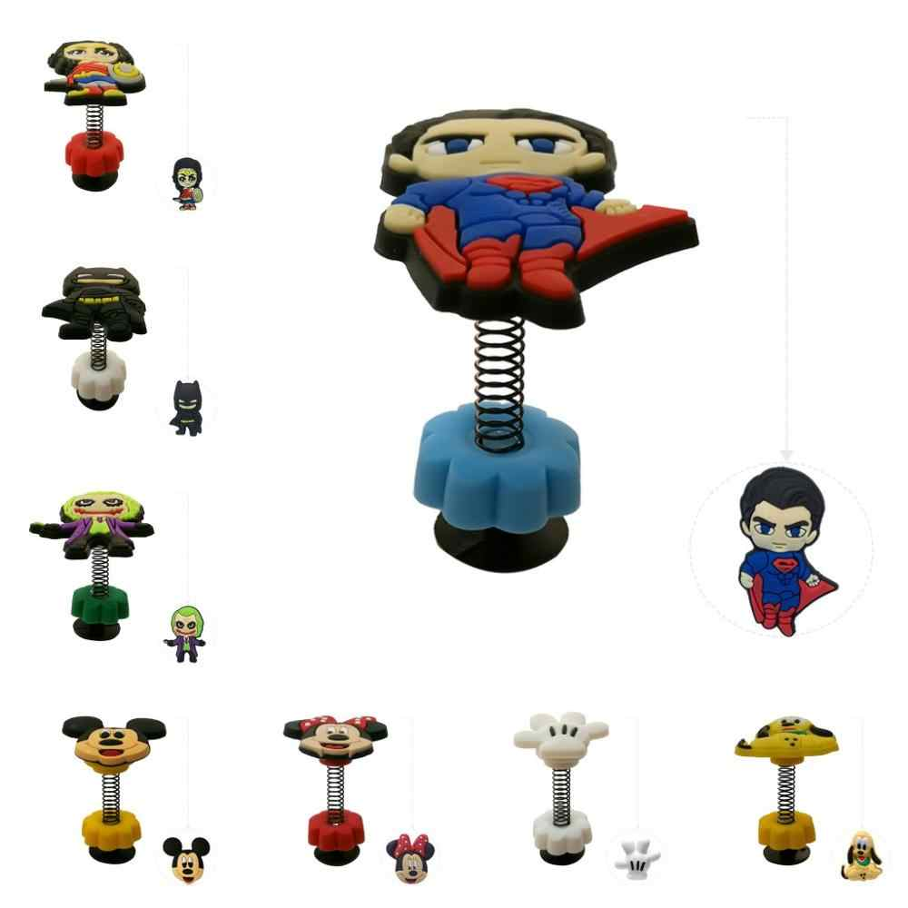 1pcs Batman Justice League Mickey Sesame Street Spring/Standing Shoe Charms  Shoe Accessories Jibz Croc Charms Gifts For Kids