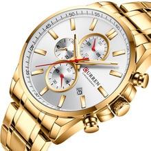 Curren 8368 Men Watch Top Brand Luxury Chronograph Quartz Watches Clock Men Stainless steel Sport Military Wrist Watches Saat