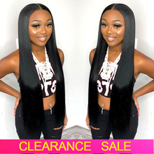 Wigs Human-Hair-Wigs Lace-Frontal T-Part Transparent 180-Density Bone Straight 32-30inch