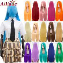 Christmas-Wig Cosplay Wig Bangs Party-Wigs Heat-Resistant Long Synthetic Straight Women