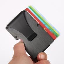лучшая цена New Anti-theft degaussing Card Package Women Men stainless steel RFID Blocking Wallet Wallets ID Credit Card Money Clip