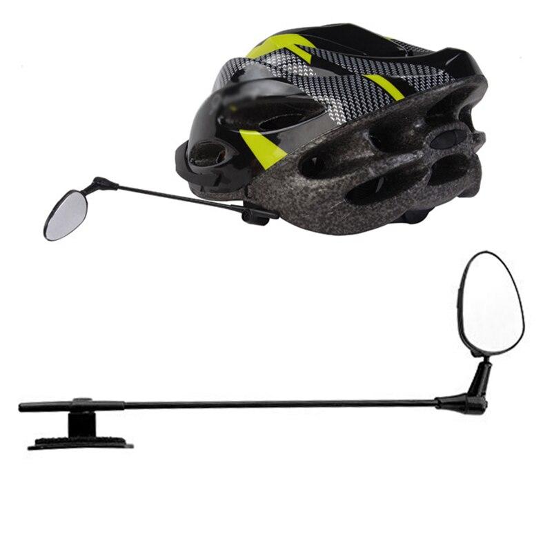 Зеркало заднего вида для велосипеда, широкоугольное ультралегкое с креплением на шлем, прозрачное с вращением на 60 градусов, велосипедные аксессуары