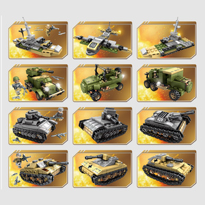 Image 4 - Sembo Building Blocks 1061pcs Military Series Helicopter ww2 Figures Weapon Gun Soldiers Tank Educational Toys for Children Gift