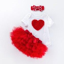 Roupa do bebê 2nd vestido de aniversário outfits 2 anos meninas boutique roupas de batismo vestidos de natal para a criança meninas 24 meses