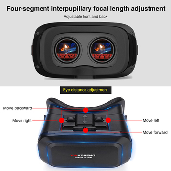 Original 3D Virtual Reality VR Glasses Support 0-600 Myopia Binocular 3D Glasses Headset VR for 4-7 Inch IOS Android Smartphone 5