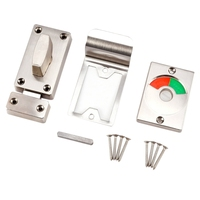 Bathroom Toilet Wc Indicator Privacy Dead Bolt Door Lock Latch Vacant Engaged -
