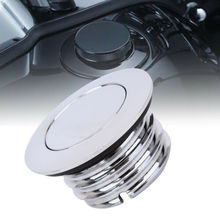 Motorcycle Fuel Gas Cap  Flush Pop Up Reservoir Gas Cap For Harley Davidson