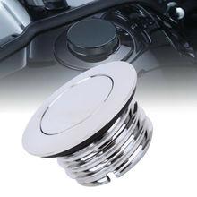 Motosiklet yakıt gaz Cap gömme Pop Up deposu gaz kapağı Harley Davidson için
