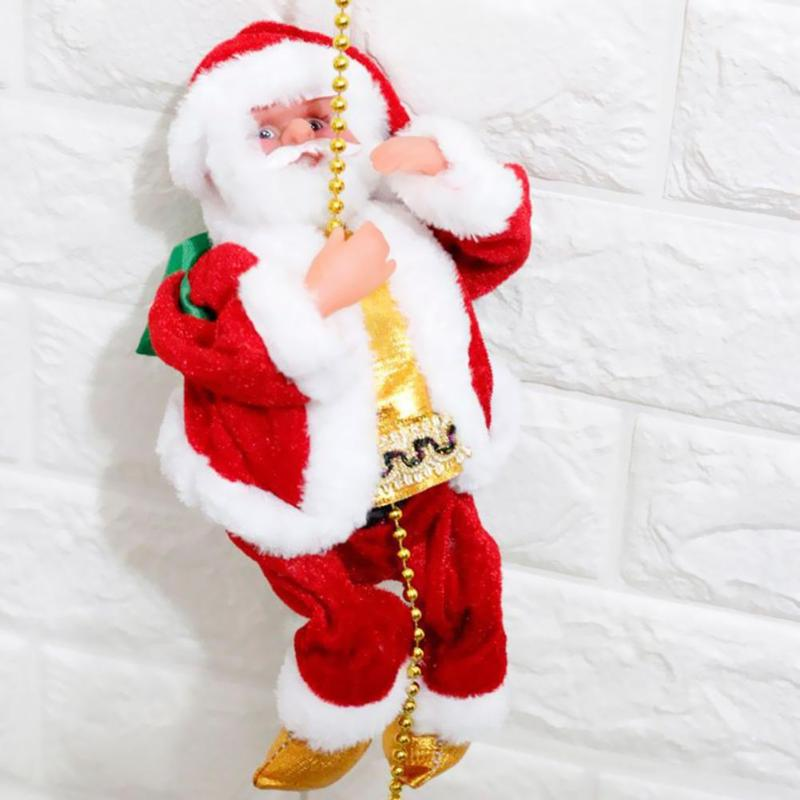 Christmas Baby Kids Vocal Toys Electronic Xmas Santa Climbing Beads Ladder Doll Plastic Electric Gift Music Kid Toys