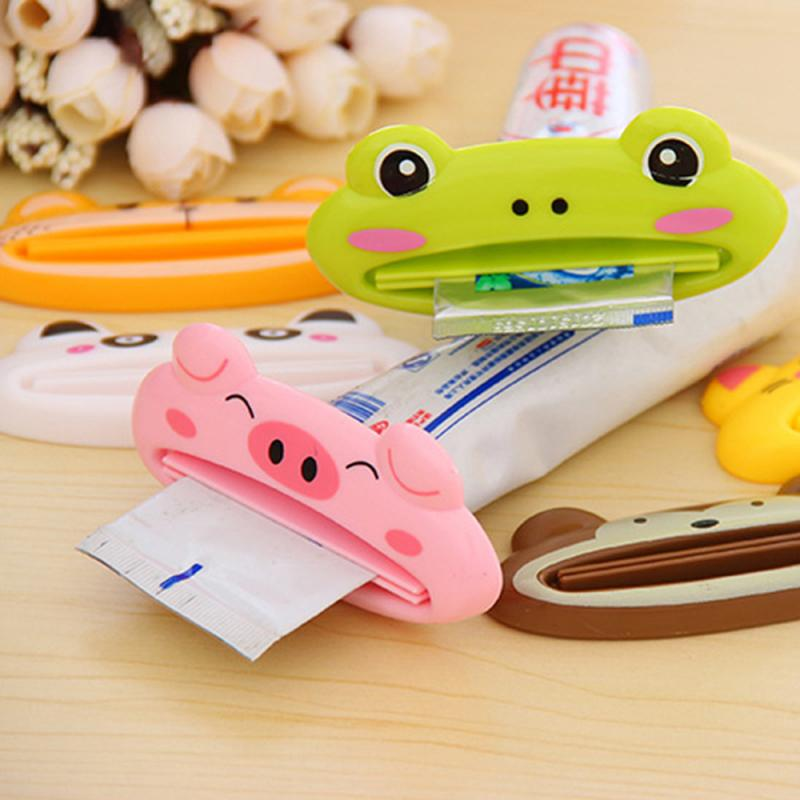 1 Pc Cartoon Animal Toothpaste Dispenser Plastic Tooth Paste Tube Squeezer Cute Rolling Holder For Tube Bathroom Products(China)
