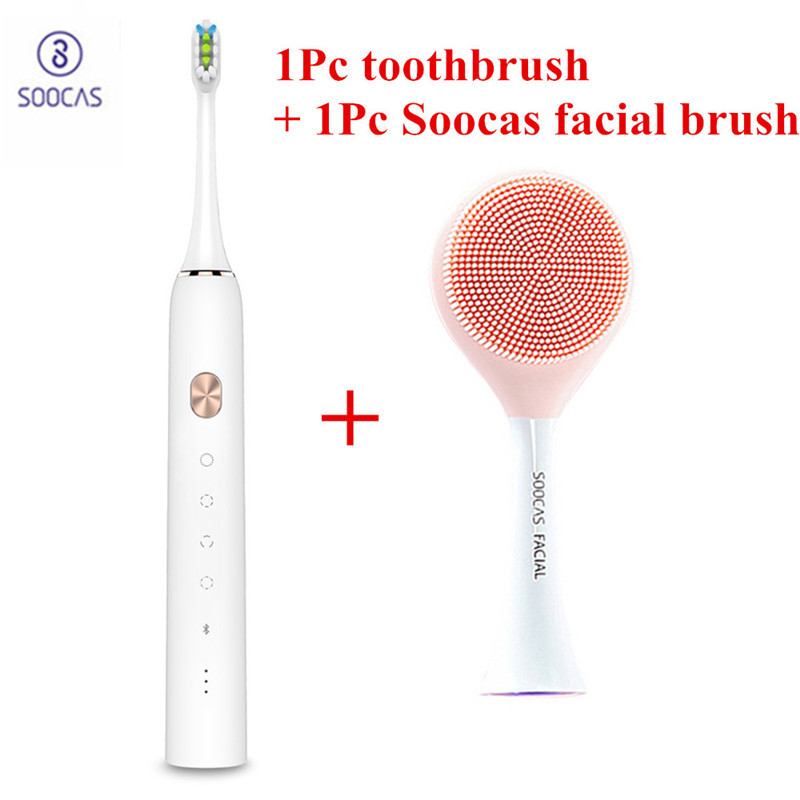 SOOCAS Facial Cleansing Brush Head For  X1 X3 X5 Sonic Electric Toothbrush SOOCAS SOOCARE Electric Massage Brush X3