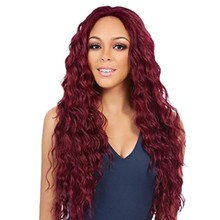 Wavy Wigs For Women Long Synthetic Hair Heat Resistant Big Wine Red Dark Brown New