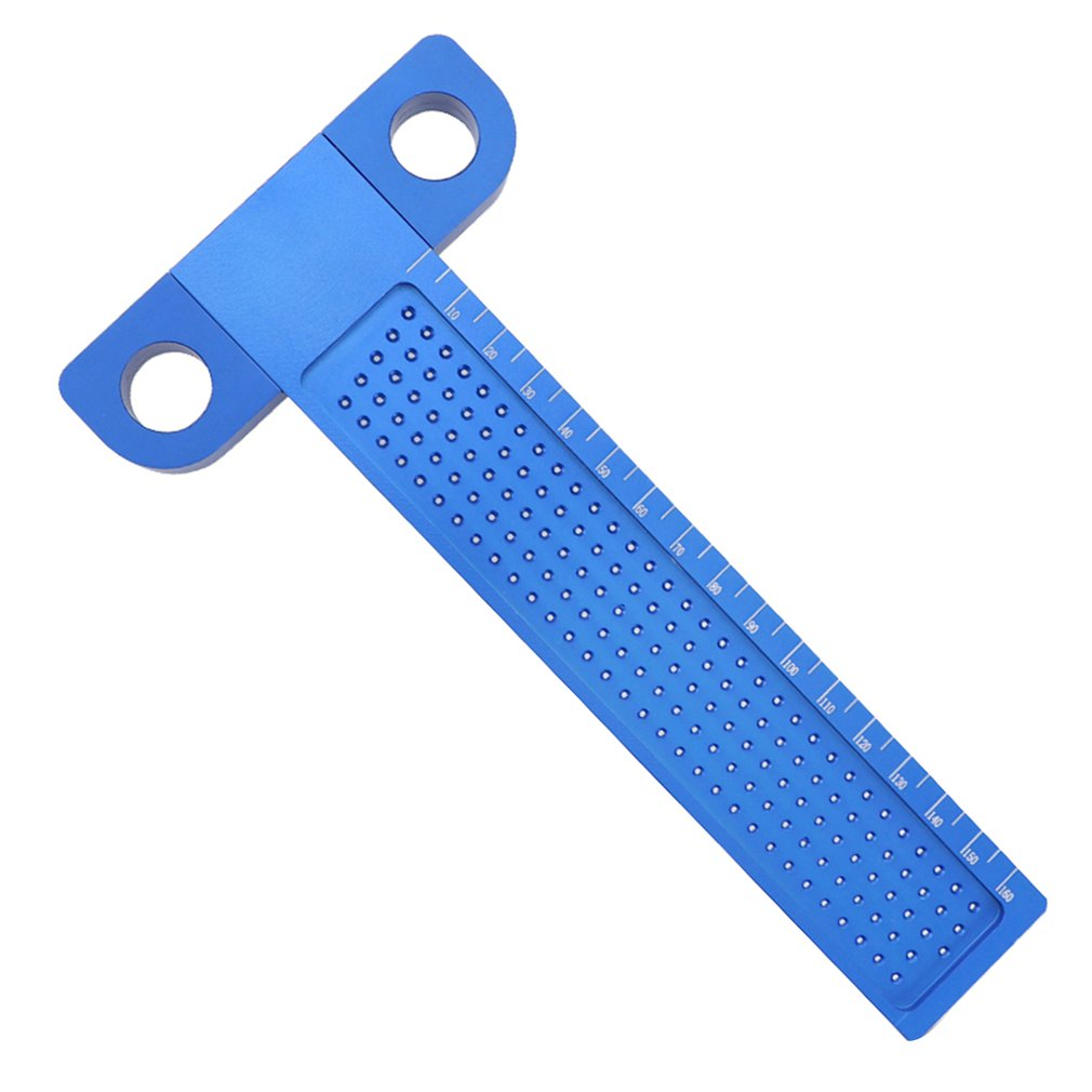 T-type Ruler 160MM Aluminum Woodworking Scribe Hole Scribing Gauge Crossed Feet Crossed-out Measuring Tool