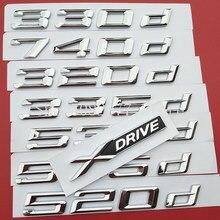 Número DIY Carta 316d 318d 320d 325d 330d 520d 530d 535d 550d 740d 750d 760d Etiqueta Do Logotipo Do Emblema para BMW Tronco Combustível Óleo Diesel