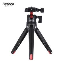Andoer Mini Handheld Travel Tabletop statyw stojak z głowicą kulową do Canon Nikon Sony DSLR Mirrorless do smartfona do GoPro 5