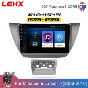 2din rádio do carro multimídia player 9 Polegada android 9.0 2gb ram para mitsubishi lancer ix 2006 2007-2010 carro estéreo gps navegação