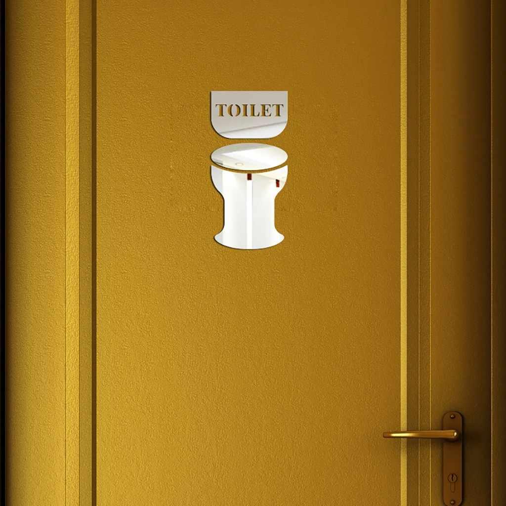 الإبداعية Diy بها بنفسك شخصية الموضة ثلاثية الأبعاد ملصقات جدار المرحاض الحمام نصائح ملصقات مرآة ملصقا غرفة الديكور جدار ديكور جديد