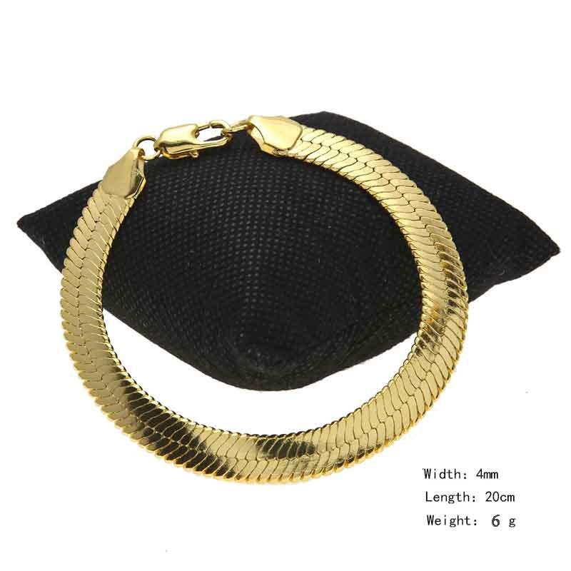 Gold-Silver-Flat-Snake-Chain-Bracelet-Bangle-Link-Elegant-Charm-Gift-Blade-Lobster-Clasp-Bracelet-Anklet (1)