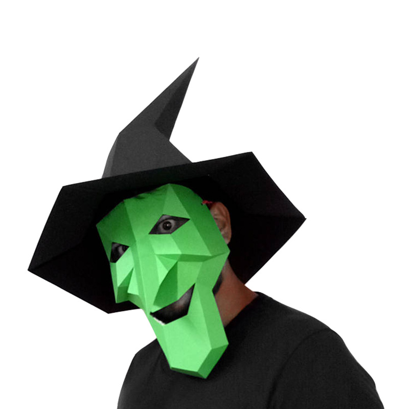 Halloween Ghost Witch DIY Animal Mask Cosplay Costume Adult Children Cardboard Breathable Halloween Party Funny Masks