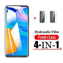 1000D Für Huawei P Smart 2021 Screen Protector Hydraulische Schutzhülle Gehärtetem weichen Glas kamera objektiv Film Für Huawei PSmart 2021
