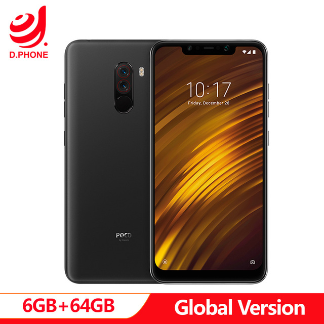 "Global Version Xiaomi POCOPHONE F1 POCO F1 6GB RAM 64GB ROM Snapdragon 845 6.18"" Full Screen AI Dual Camera 4000mAh Smartphone"