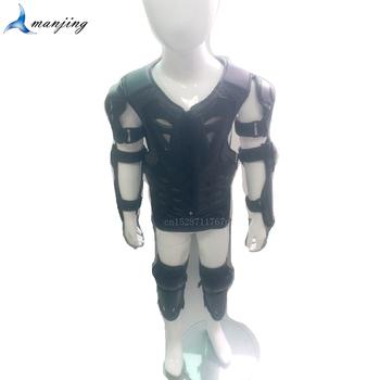 Dla wzrostu 0 8-1 7M młodzieży dziecko Full Body Protect Armor dzieci Motocross Protector MTB DH Armor kurtka chłopcy kamizelka ochrona biegów tanie i dobre opinie dd56 Wstrząsoodporny Gąbka 4-16 years 0 85-1 7M fit for head circumference 52-54cm boys girls universal model