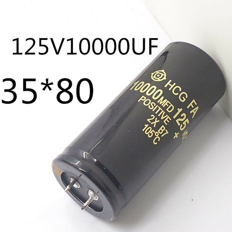 High Quality Electrolytic Capacitor 125V 10000uF Can Replace 120V 100V Audio 35x80mm Tool Part