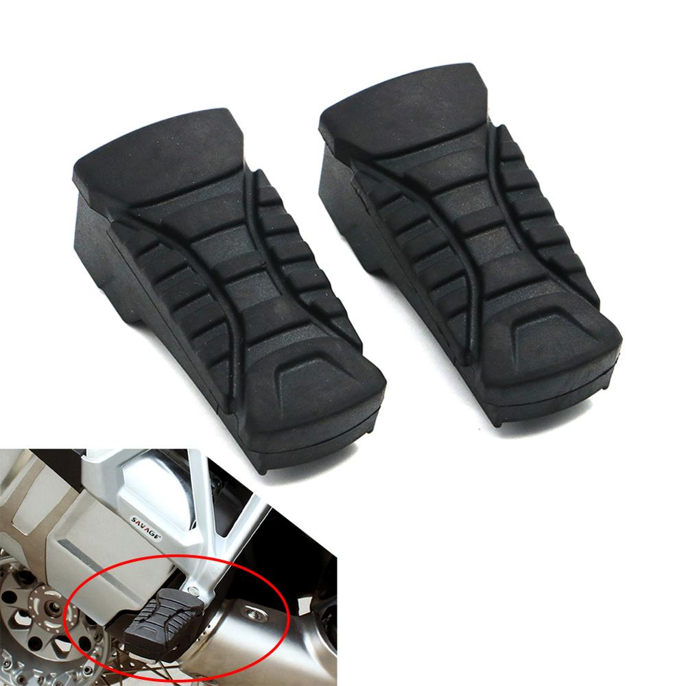 Motorcycle Foot Pegs Footpegs Plate Footrest Rubber Pad For BMW R1200GS 2014 2015 2016 2017 R 1200 GS LC / ADV 14-17 Motorcycle