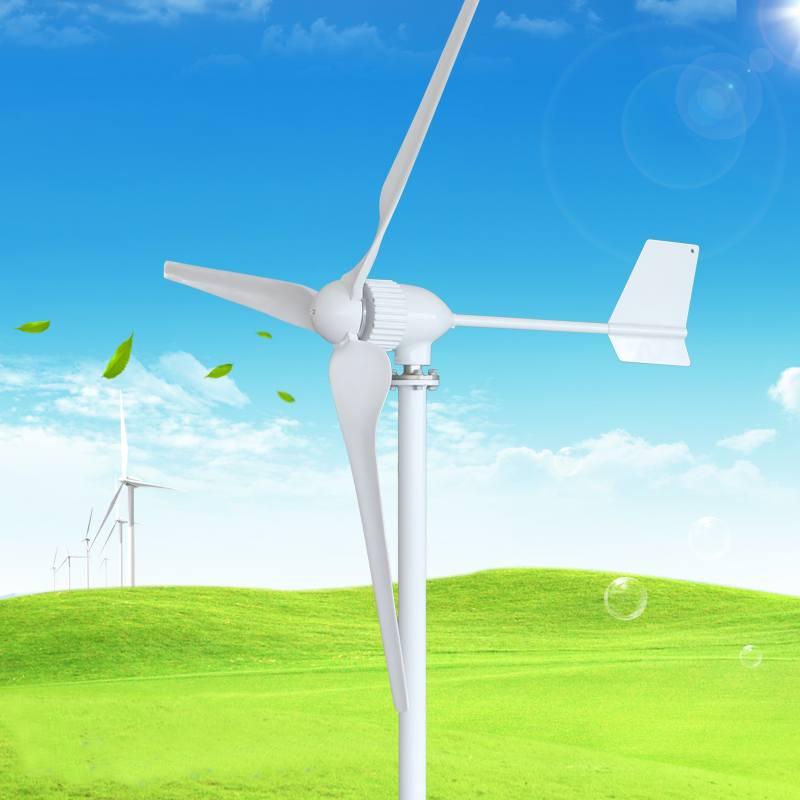 Générateur de vent à faible vent 24 V/48 V 1000W démarrage générateur de éoliennes résidentielles horizontales