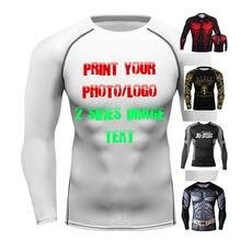 Imprimir sua própria imagem da foto e texto t topo treino ginásio rash guards