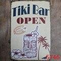 20x30 см металлический жестяной знак Tiki Bar Open Bar Pub Vintage Retro плакат для кафе Art (посетите наш магазин, больше товаров!)